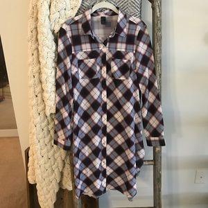 Prana plaid shirt dress